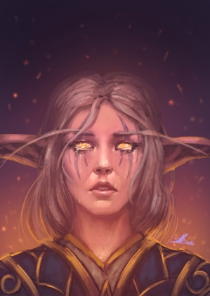 Night Elf Druid Sketch - Teldrassil