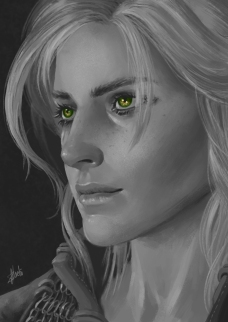 Study of Ciri from The Witcher 3
