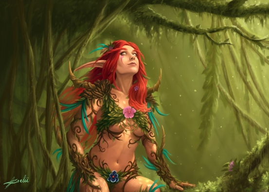 Druid Commission (Cropped - full image private to commissioner)