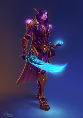 Void Elf Mage Commission