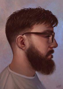 A portrait of my other half